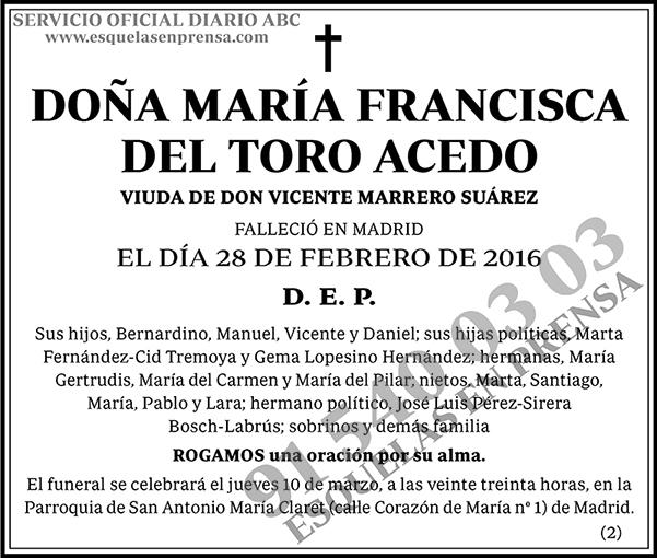 María Francisca del Toro Acedo